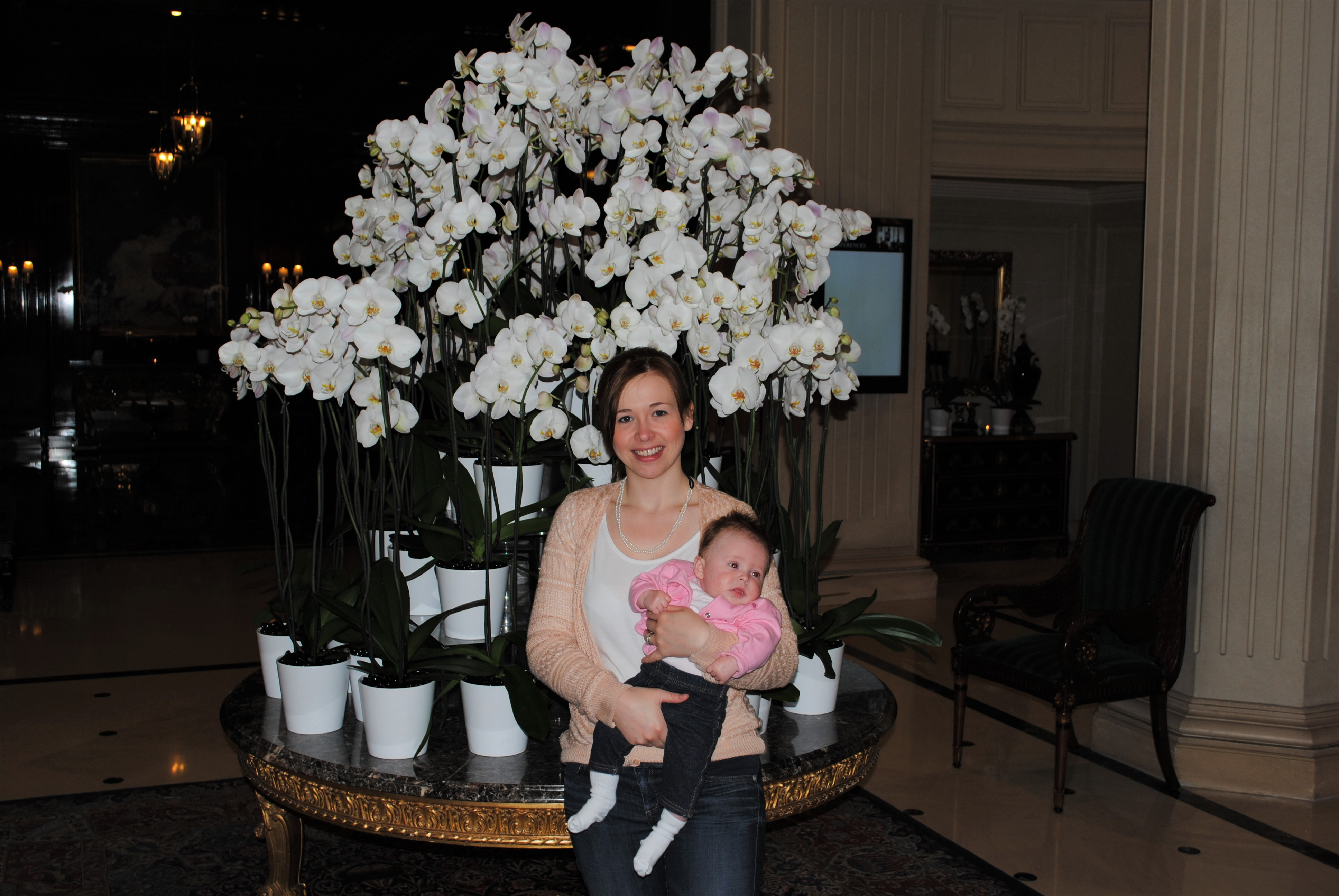 Travel Paris with a baby Paris Le Grand Hotel Foyer