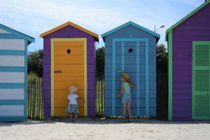 France Brittany Brest Oceanopolis beach huts
