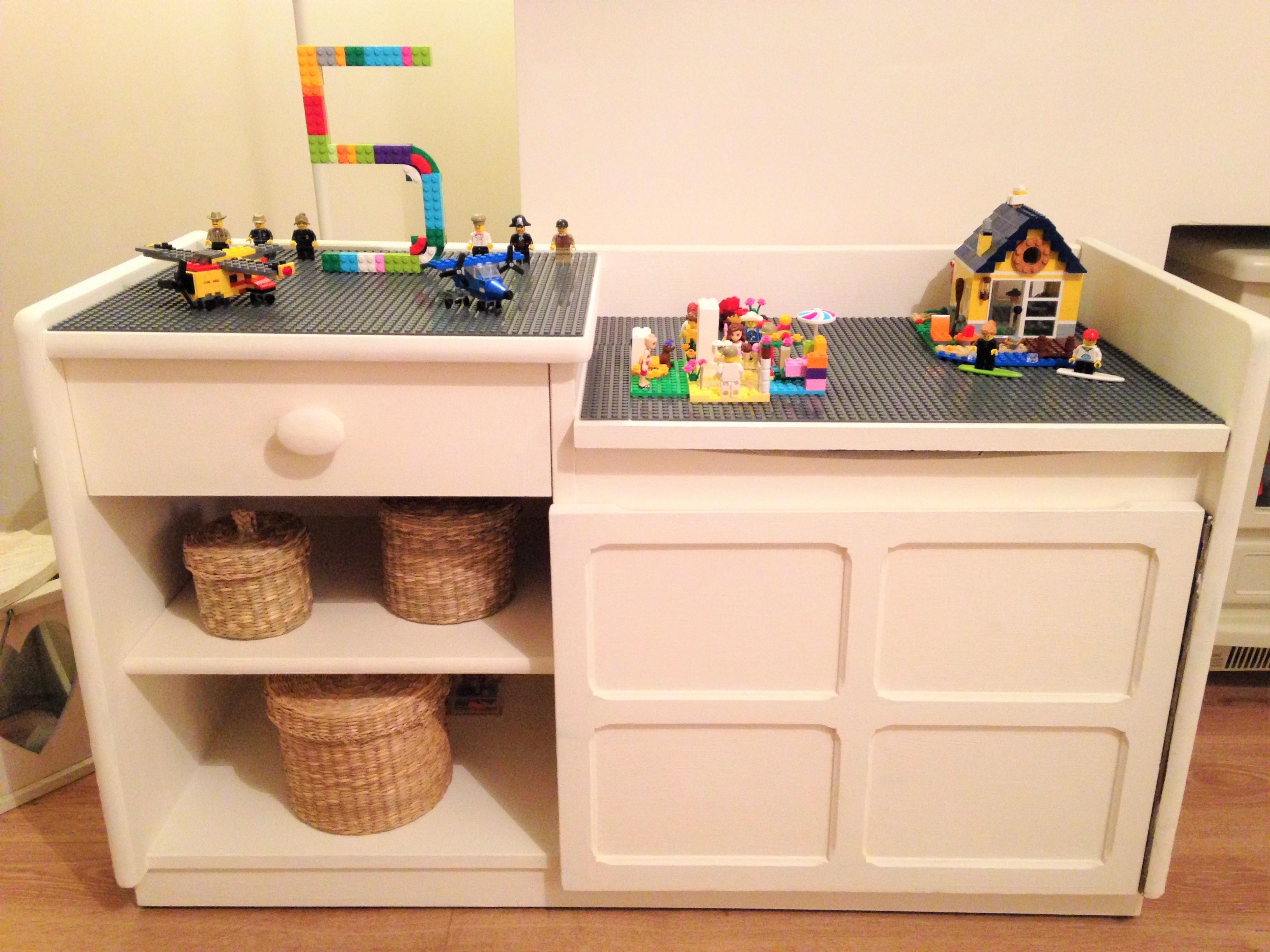 DIY Upcycled Lego Table Lego storage