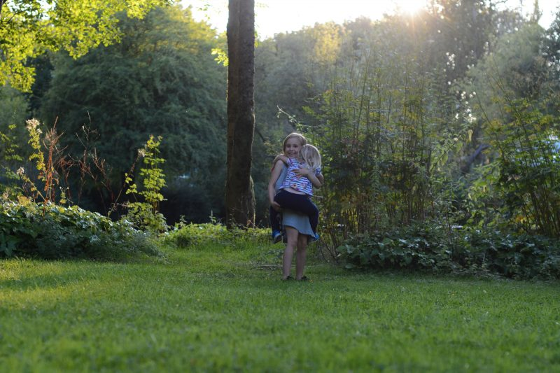 Glamping with children with Experience Freedom Motorhome & Caravan club Alderstead Site Surrey
