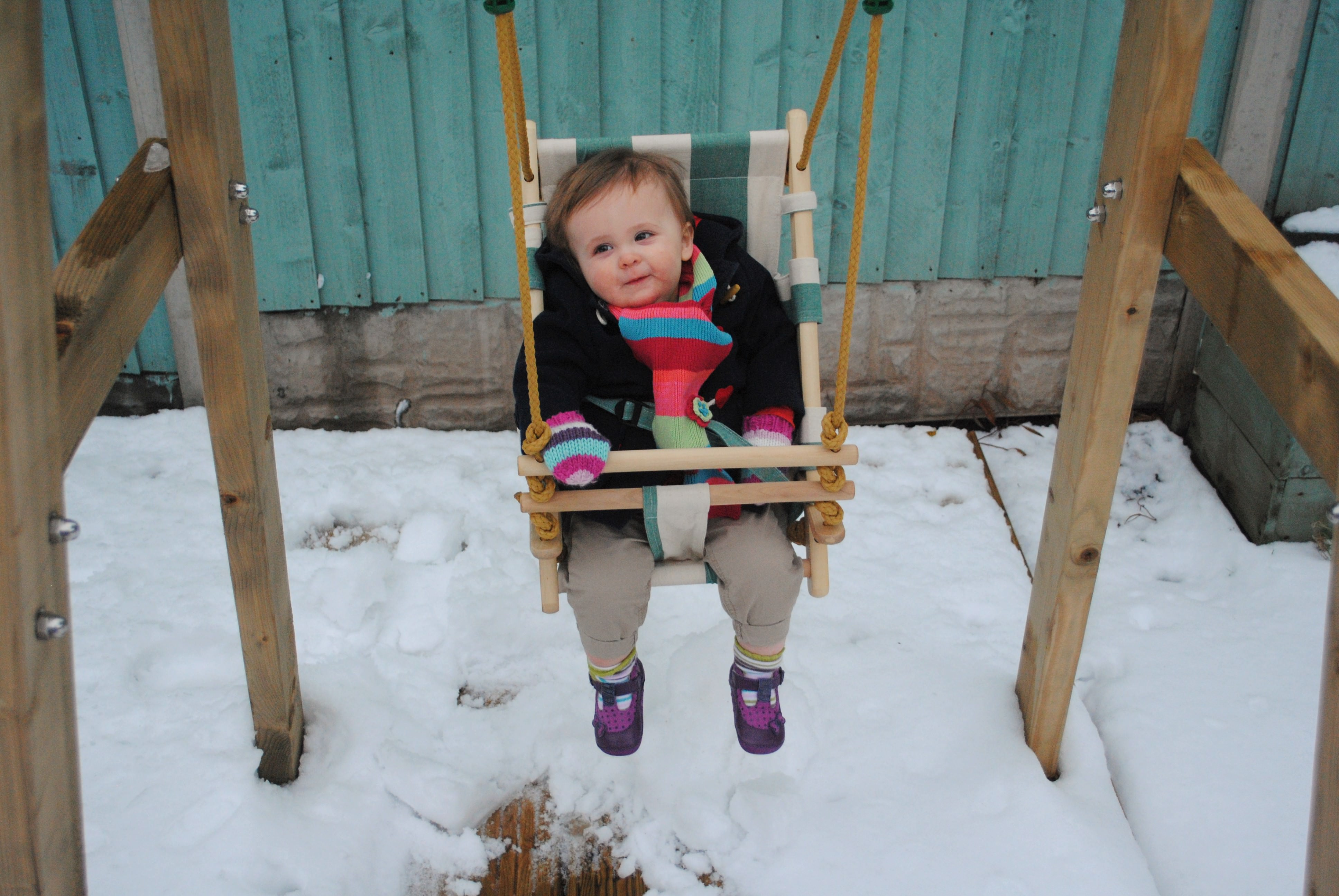 Eva's First Snow Day Looking Back