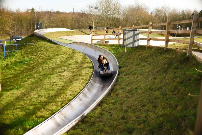 Our low spend half term snow tubing tobogganing
