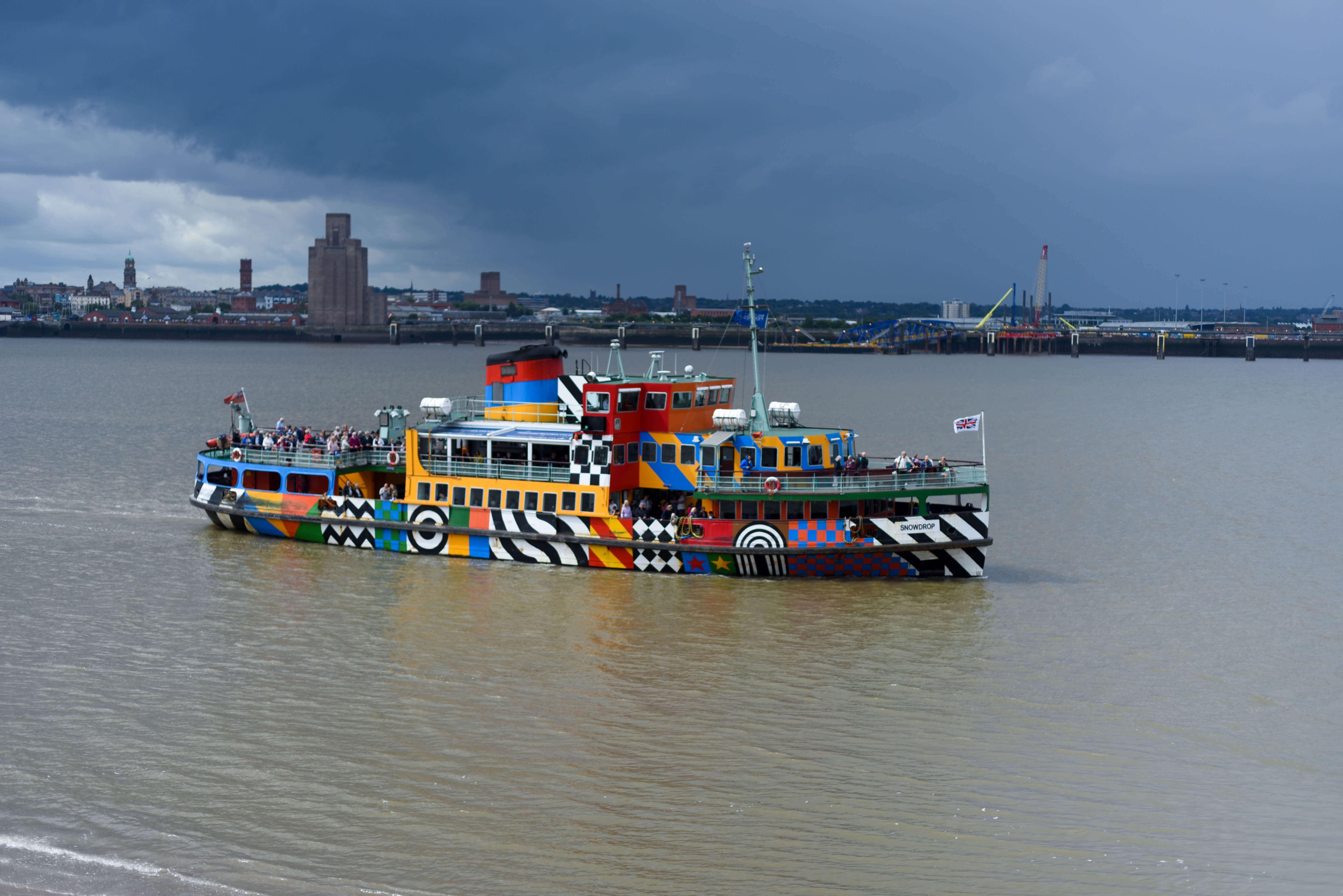 Albert Docks Liverpool Dazzle Ferry
