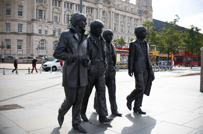 Liverpool Docks Beatles Statue